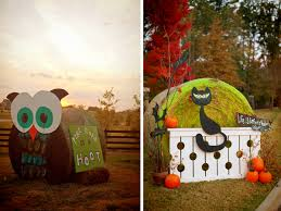 Outdoor Halloween Decorations With Hay by Hay Bale Decorating The Lettered Cottage