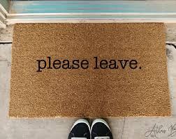 Doormat Leave College Doormat Etsy