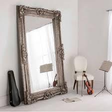 buckingham silver antique french style floorstanding mirror