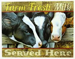 farm fresh milk served here tin sign dairy farm country kitchen