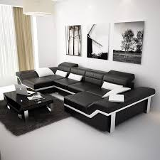 Sectional Sofa With Double Chaise Furniture White Leather Sectional Sofa With Chaise Also Black And