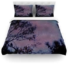 brilliant robin dickinson twilight purple tree cotton duvet cover