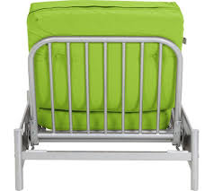 buy home single futon metal sofa bed with mattress green at