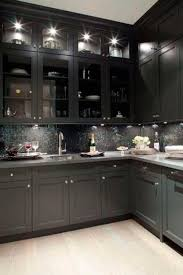 shaker style glass cabinet doors dark kitchen cabinets with glass doors quicua regard to black