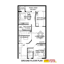house plan for 27 feet by 50 feet plot plot size 150 square yards