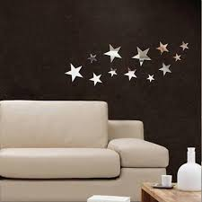 12 pcs set fashion home decor mirror wall stickers gold silver