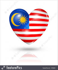 Malaysai Flag Illustration Of Love Malaysia Heart Flag Icon