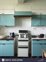 1950s kitchen furniture the blue kitchen at dunster castle somerset with electric cooker