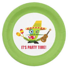 cartoon cinco de mayo it s a party cinco de mayo cactus cartoon paper plate cinco de