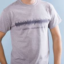 personalised sound wave t shirt by oakdene designs