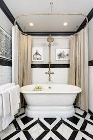 unique painting ideas featuring black trim view gallery bathroom with black trim and tile floor