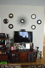 wall decor above tv home decorating ideas ideal lovely home