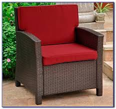 wicker patio furniture red cushions patios home decorating