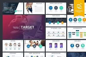 Target Google Slides Template Presentation Templates Creative Slide Templates