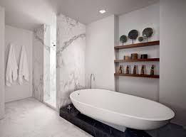 bathroom luxury white marble decorated bathroom features golden