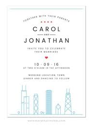 wedding invitations chicago modern chicago skyline wedding invitation more than invites