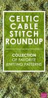 celtic cable knit stitch pattern roundup studio knit