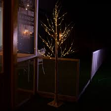 2 1m 7ft 120led silver birch twig tree light warm white for xmas