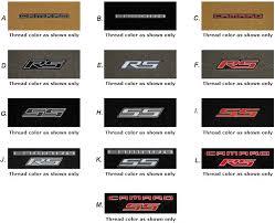 camaro logos 5 camaro 2010 2015 lloyd mats front ultimat set w logo