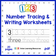 123 number tracing u0026 writing worksheets