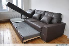 canapé convertible en canapé convertible en lit avec coffre de rangement a