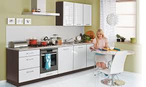K Henzeile Mit Hochbackofen Küche Einbauküche Küchenzeile 300cm Modern Weiss Hochglanz