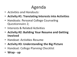 Activity Resume Rams Iv Ppt Download