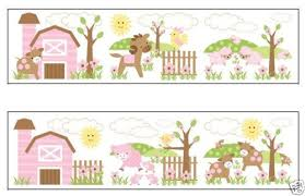 Wallpaper For Baby Girl Nursery WallpaperSafari - Wall borders for kids rooms