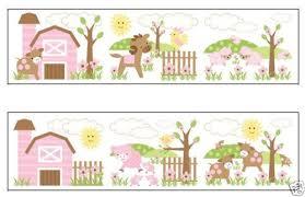 Wallpaper For Baby Girl Nursery WallpaperSafari - Kids room wallpaper borders