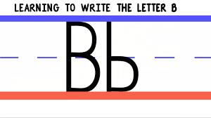 letter b u2013 practice handwriting downloads 123 abc tv