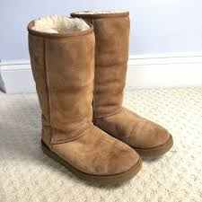 ugg shoes australia brown boots poshmark 75 ugg shoes ugg australia shearling boots from