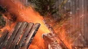backyard fire pit bokeh stock video footage videoblocks