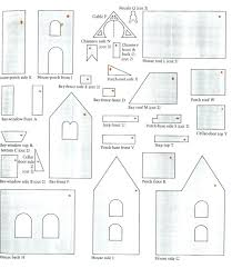 gingerbread house paper template eliolera com