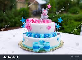 birthday cake baby boy twins stock photo 432272341 shutterstock