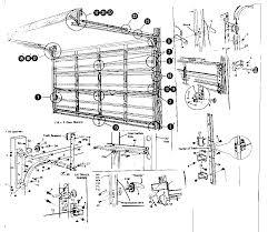 Overhead Garage Door Replacement Parts Overhead Garage Door Diagram Overhead Garage Door Panel Oak Summit