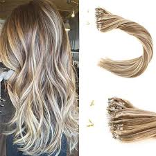 micro ring extensions micro loop hair extensions human hair light brown highlight