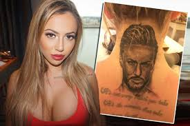 samantha tattoo on her neck holly hagan gets a huge tattoo of her boyfriend on her neck for