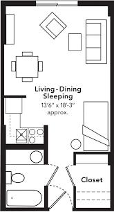 Small Flat Floor Plans Enchanting Floor Plans For Small Studio Apartments Pics Ideas