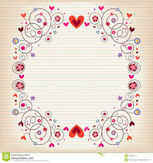 lined writing paper with picture space empty lined paper book stock images image 31575404 hearts and flowers frame on lined note book paper stock image