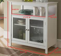 buffet cabinet with glass doors white wood contemporary kitchen storage display buffet cabinet with