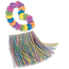 children u0027s lei and grass skirt hula set walmart com