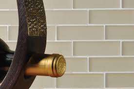classic subway tile mosaic with small glass tile streamline colors