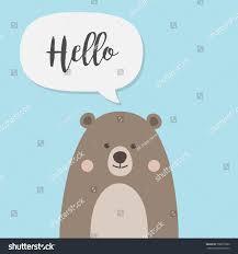 bear cartoon character cute brown teddy stock vector 700877086
