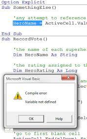 vba variable worksheet information