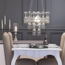 3 tier champagne flute glass chandelier silver from litecraft
