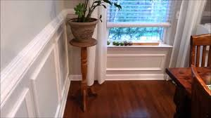 chair rail and wall moulding diy youtube
