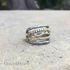 grace u0026 u0027s lineage ring in sterling and brass 109