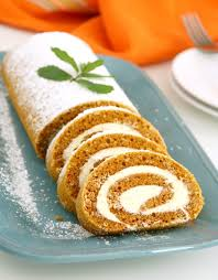 pumpkin roll cake with buttercream filling kitchen dreaming