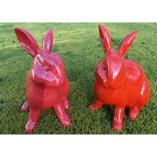 animaux resine jardin lapin en résine pour décorer vos jardins texartes
