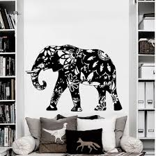 amazon com wall decal elephant vinyl sticker decals home decor amazon com wall decal elephant vinyl sticker decals home decor murals indian elephant floral patterns mandala tribal buddha ganesh bedroom dorm os39 home